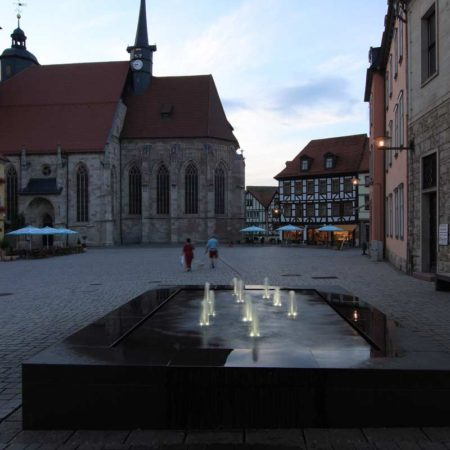 View-from-the-fountain-at-Altmarkt-towards-the-church