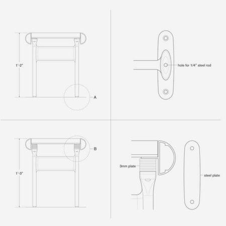 aluminum-bench-details