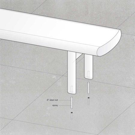 aluminum-bench-landscape-hardware-option