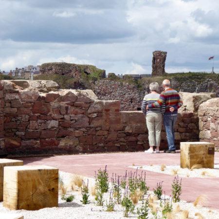 17.-View-from-coastal-garden-towards-Dunbar-Castle-credit-rankinfraser-landscape-architecture