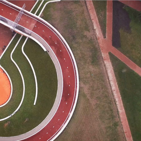 Bicycle-loop-and-integrated-sport-court