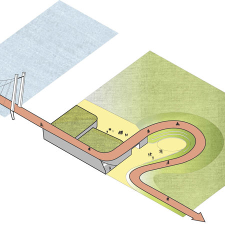 Integral-design-of-a-bridge-a-school-a-bicycle-track-and-a-park