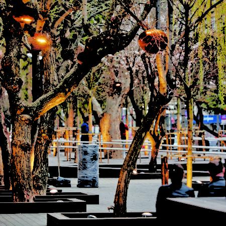 24-HAMAMYOLU URBAN DECK-urban earrings lighting elements hanged on the trees
