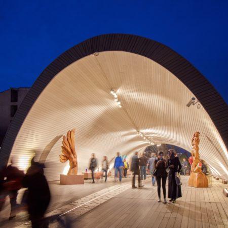 26-HAMAMYOLU URBAN DECK-double curved vault of the open art museum