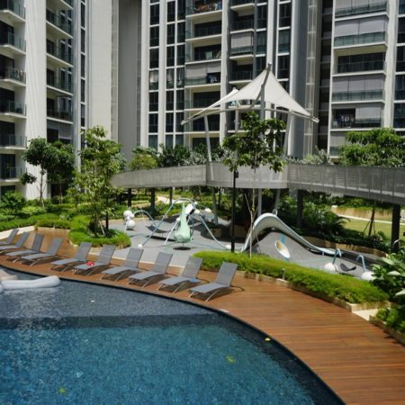 7 AMK Main lap pool with Treetop walk feature and lookout deck - WX