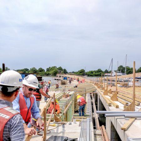 Construction of Pier