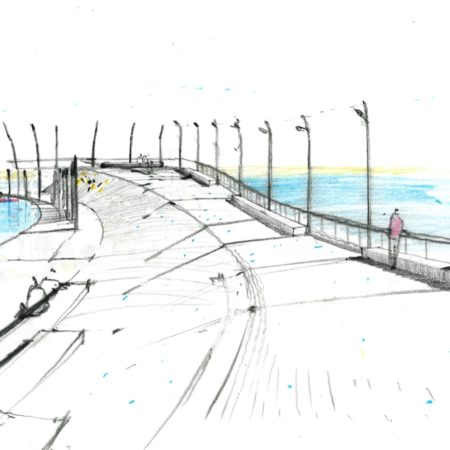 South Perspective Sketch