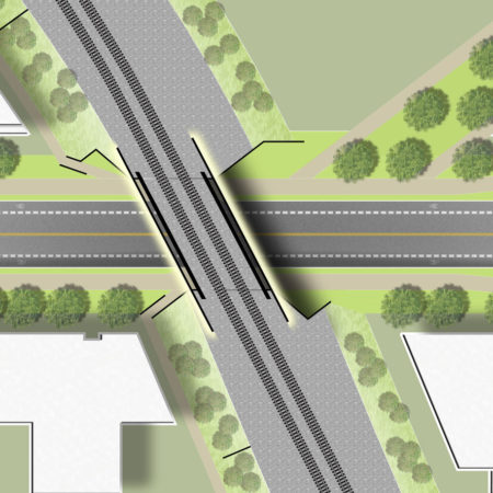 XX-Site-plan-of-viaduct-with-access-road-underneath