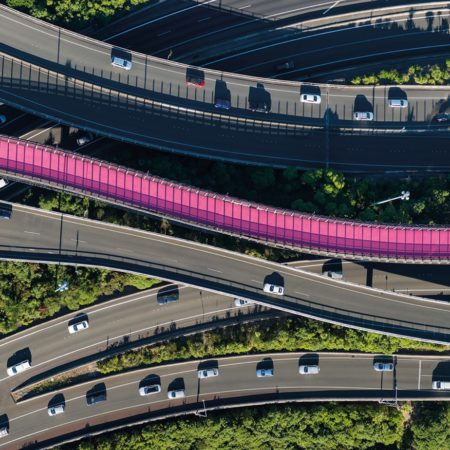 Intertwining with Auckland's central motorway junction, the Lightpath cycleway (Te Ara I Whiti) is a flamboyant symbol of the city's desire to become more sustainable.