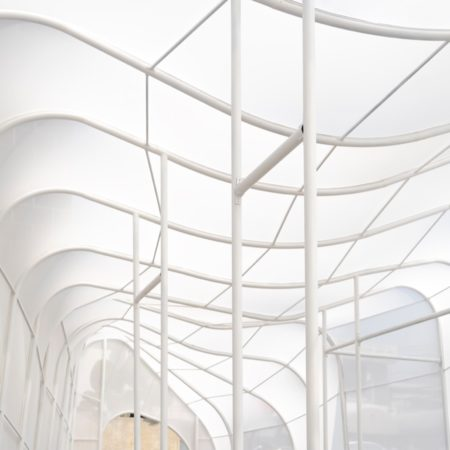"""Interior view of Structure and form inspired by """"Cloud"""""""