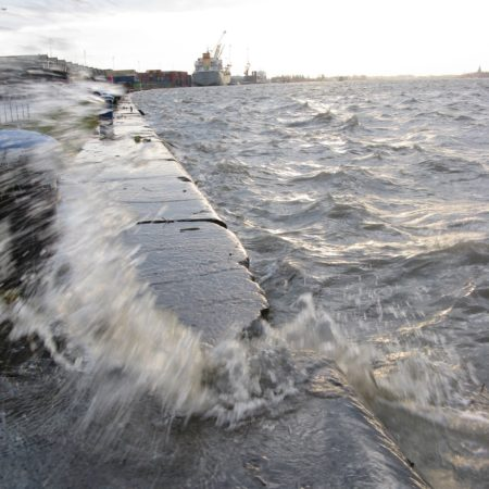 © Patrick Peeters / The old quay wall will overflow regularly in the future.