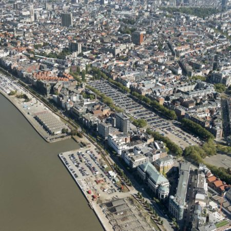 © Patrick Henderyckx / Aerial view of 'Sint-Andries en Zuid' Quays prior to commencement of the works.