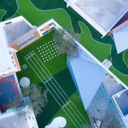 11.Aerial view of kindergarten area.