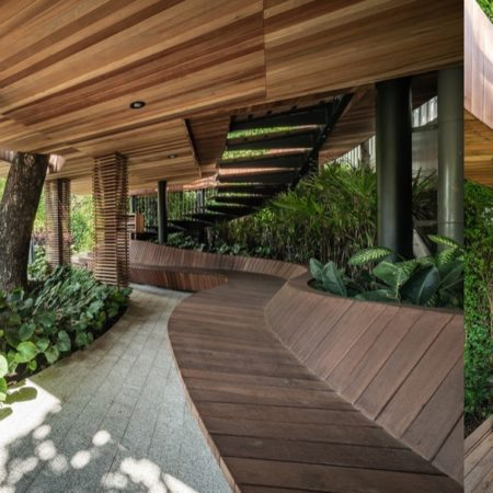 Detail design with natural material