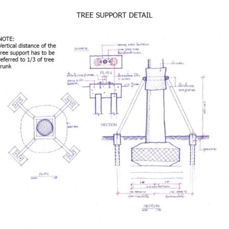 Tree support detail