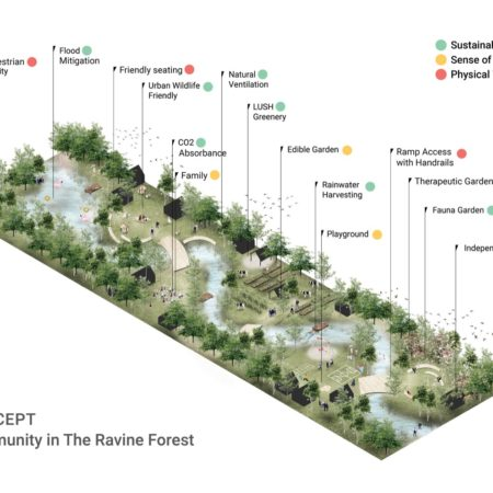 """The overall element of """"Community in the Ravine Forest"""""""