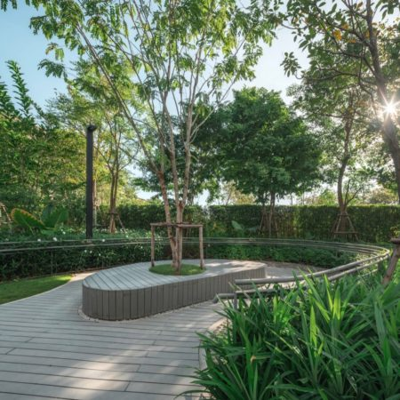 Therapeutic Garden with reflexology path and resting