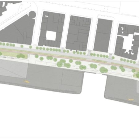 © PROAP / Design drawing with an overview of the reconstructed Quays of the Schelde.