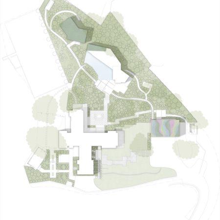 Z Arroyo Seco Residence-Simple site plan