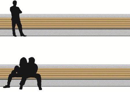 Z Rampart zone - natural stone bench