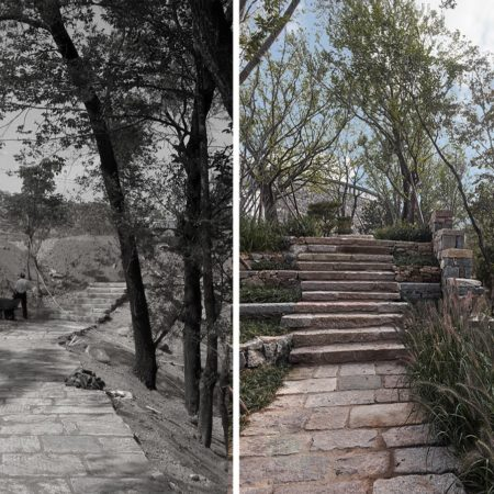 11 before and new path ©gad · line+ studio