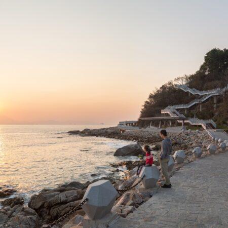12 Sunset view along the seashore walk