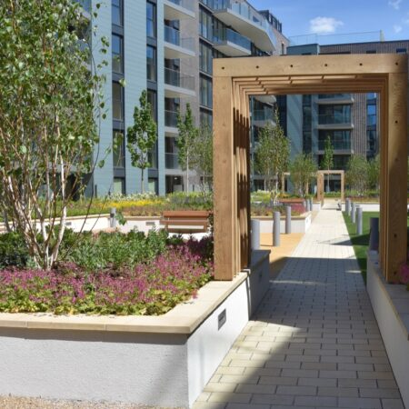 16. Greenwich Square Communal Garden - axial route