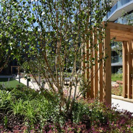 17. Greenwich Square Communal Garden - gateway element