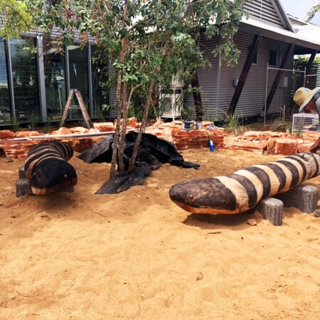 19 Construction of two timber blue tongue lizard sculptures -Vanessa Margetts