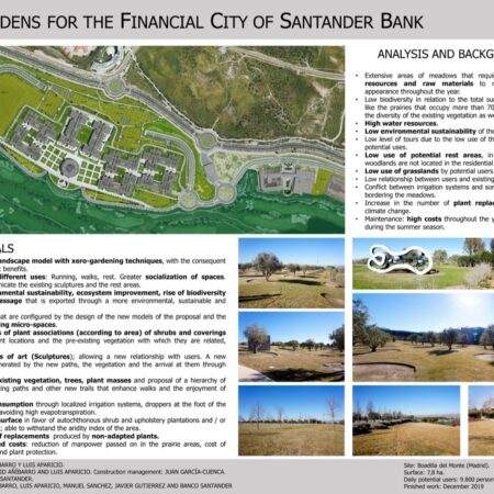 2 NEW GARDENS FOR THE FINANCIAL CITY OF BANCO SANTANDER