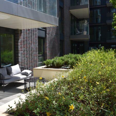 22. Greenwich Square Communal Garden - private terraces