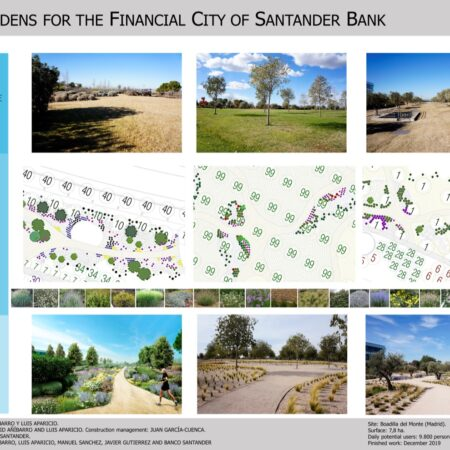 3 NEW GARDENS FOR THE FINANCIAL CITY OF BANCO SANTANDER