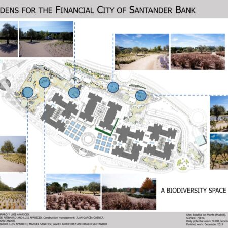 5 NEW GARDENS FOR THE FINANCIAL CITY OF BANCO SANTANDER