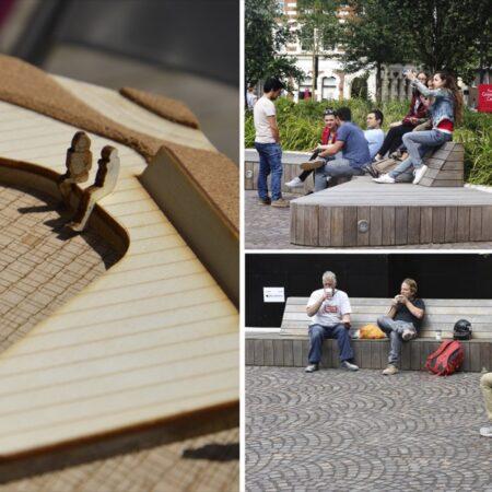 5. Greenwich Square Public Realm -sculptural bench