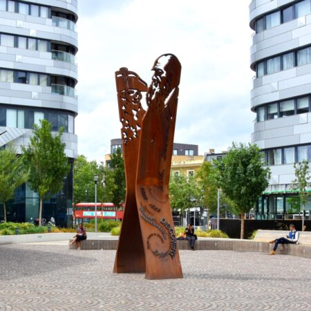6. Greenwich Square Public Realm - bench and public art