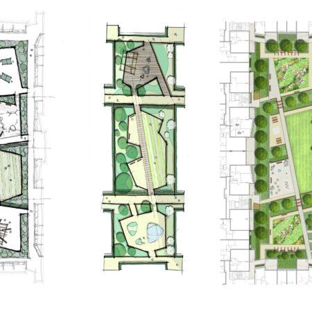7. Greenwich Square Communal Podium Garden- design development