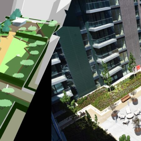 8. Greenwich Square Communal Podium Garden - 3d sketch to reality