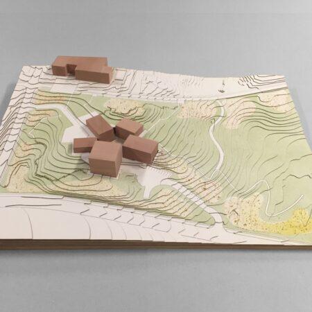 Duke University Nasher Sculpture Garden - site model © West 8
