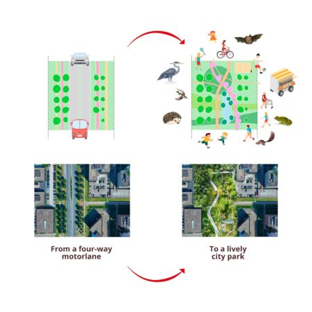 Felixx_HondsrugPark_02_Diagram_Four-lane_motorway_to_lively_city_park