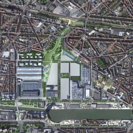 Gare Maritime_situatie_Extensa_insertion in aerial photo