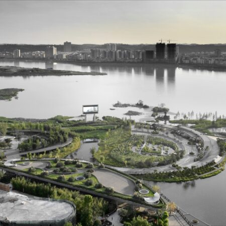 Waterfront landscape belt planning in Hedong newly-developed area-1