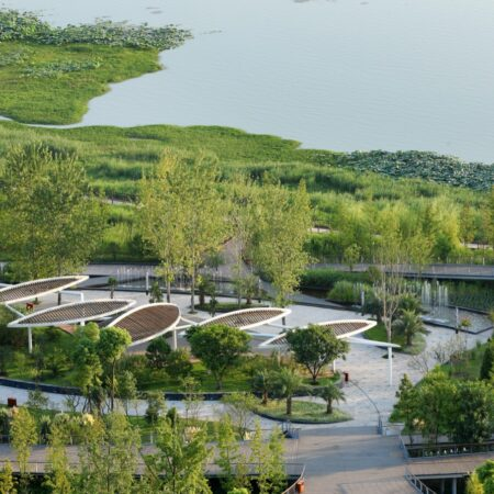 Waterfront landscape belt planning in Hedong newly-developed area-3