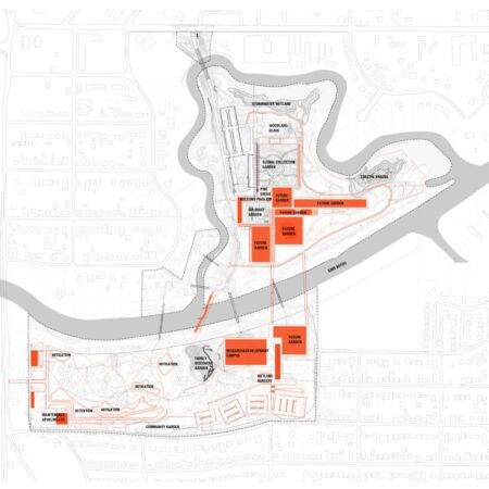 West 8 Houston Botanic Garden Future development Plan © West 8