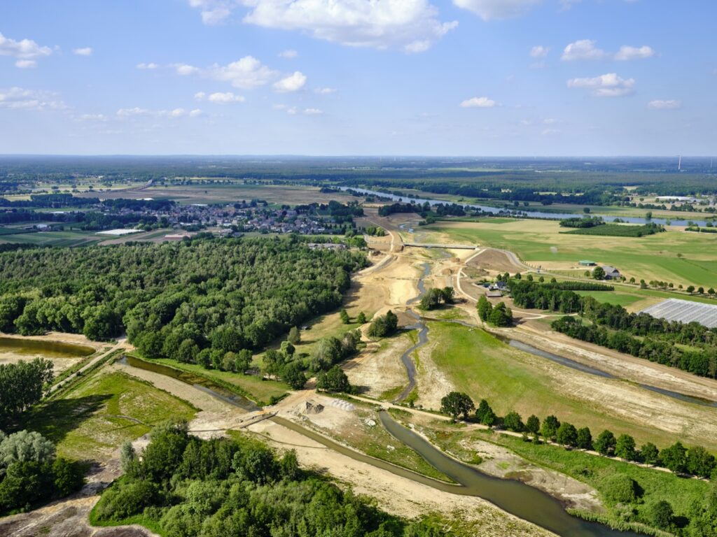 Aerial foto during construction / Photo: Siebe Swart