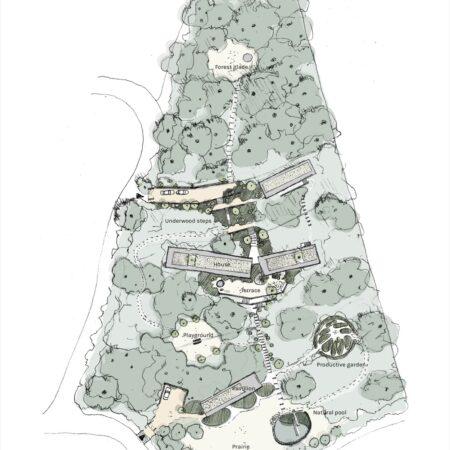 x Estudio Ome_Forest garden_Nests house_Site plan