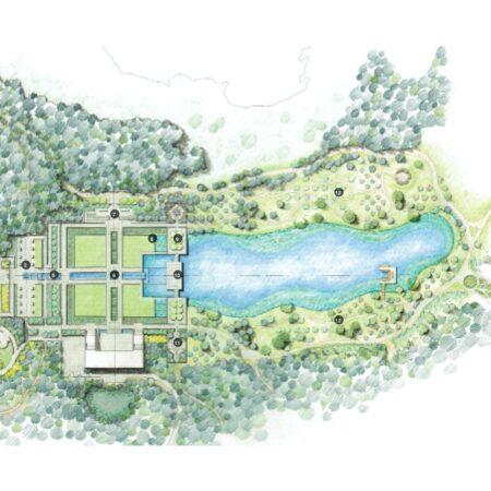 zz The Aga Khan Garden, Alberta Site Plan